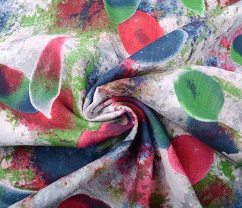 Baumwolle Viskose Djamboe Color