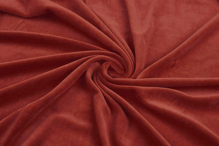 Nicky Velours Rood Brique