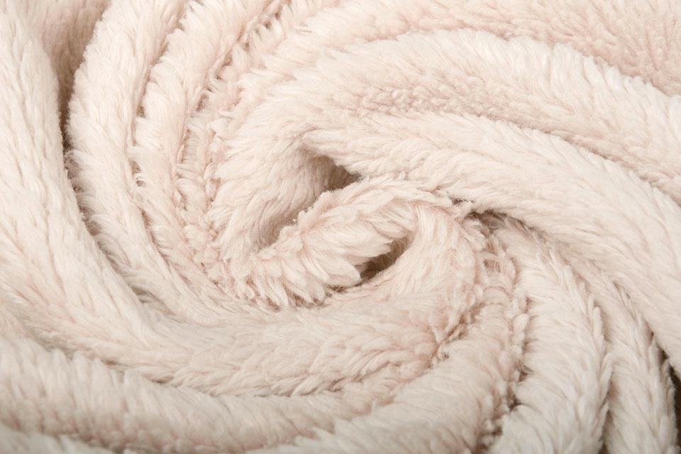 Baumwolle Teddystoff Beige
