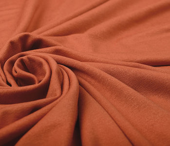 Viskose Jersey Orange Brique