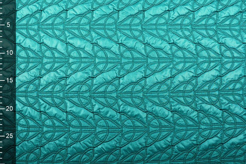 Gewatteerde Jassenstof Zee Groen