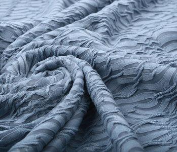 Jacquard Spitze Jeans Blau