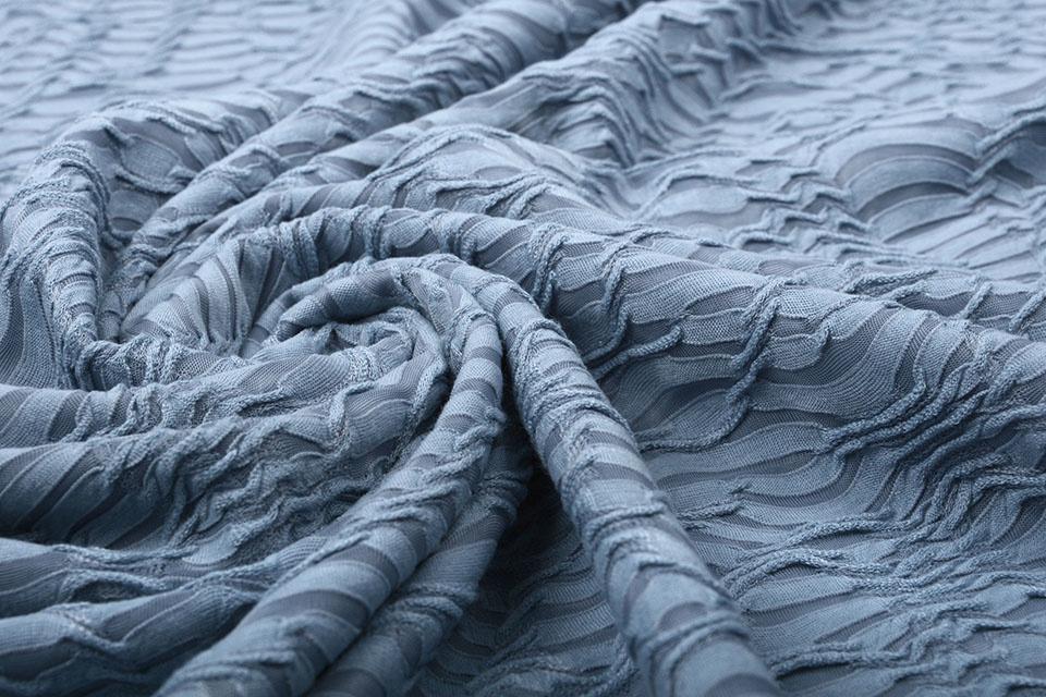 Jacquard Kant Jeans Blauw