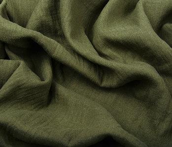 Baumwoll Musselin Dunkel Armee Grün