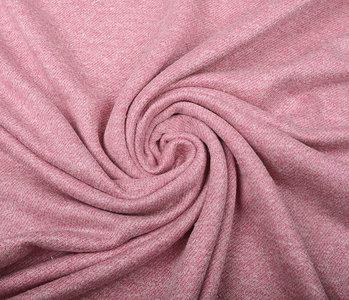 French Terry Sweatshirt Stof Oud Roze Melange