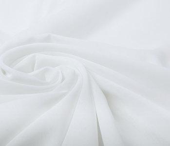 100% Voile Polyester Weiß