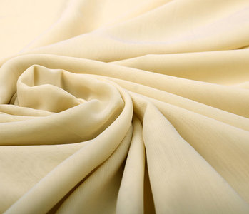 100% Voile Polyester Beige