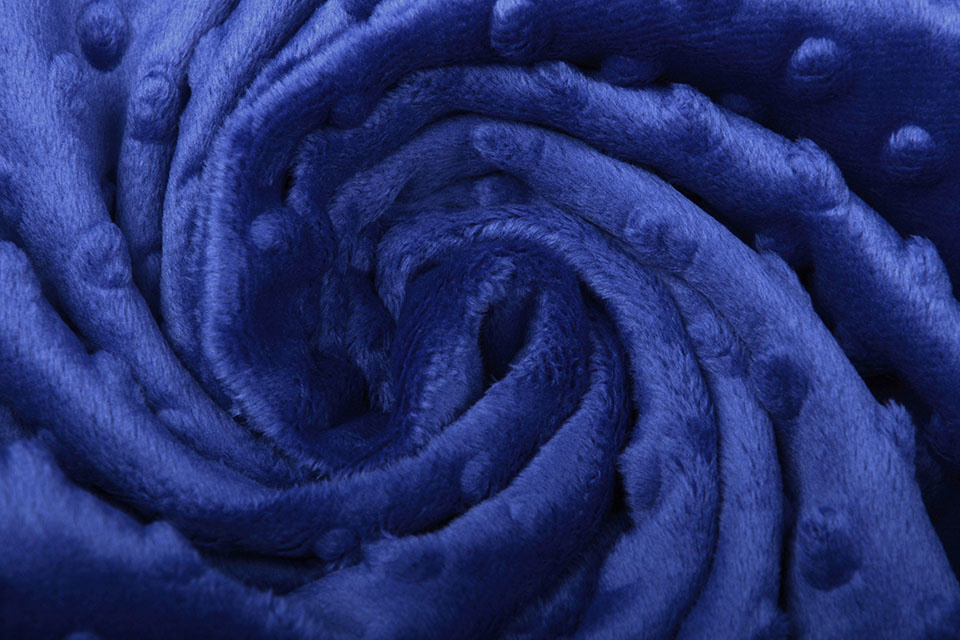 Minky Fleece Konings Blauw