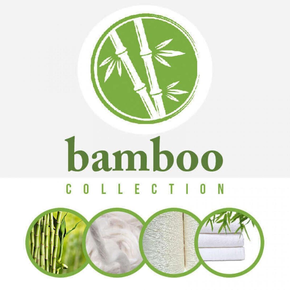 Bamboe Badstof Grijs Blauw