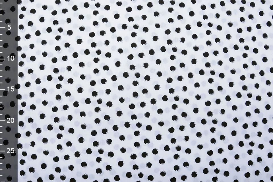 100% Digitaal Katoen Little Bubbles Wit Zwart