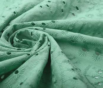 Stickerei Baumwoll  Bonita Grün