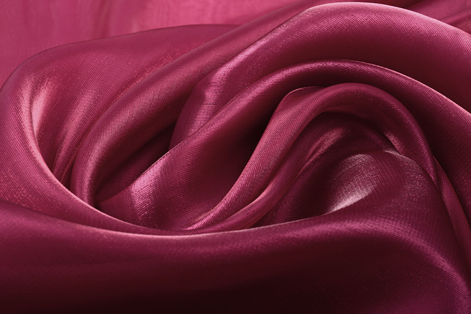 Korean Silk Wijn rood
