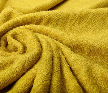 Bamboo Terry Cloth Ocher Yellow