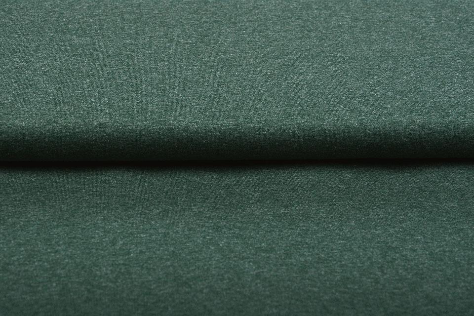 Oeko-Tex®  Cotton Jersey Donker Groen Melange