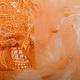 Mesh Geborduurd Qatra Oranje