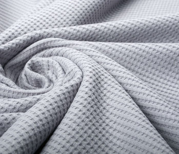 Oeko-Tex®  Baby Jersey Waffle Pique Fabric Grey