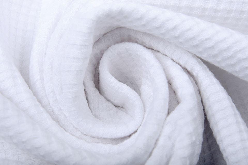 Oeko-Tex®  Baby Jersey Wafel Katoen Wit