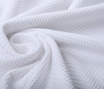 Oeko-Tex®  Baby Jersey Waffelpiqué Baumwolle Weiß