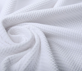 Oeko-Tex®  Baby Jersey Waffle Pique Fabric White