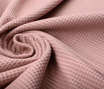 Oeko-Tex®  Baby Jersey Waffle Pique Fabric Powder Pink