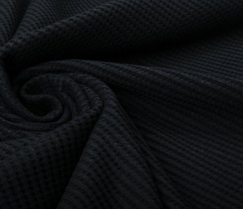 Oeko-Tex®  Baby Jersey Waffle Pique Fabric Black