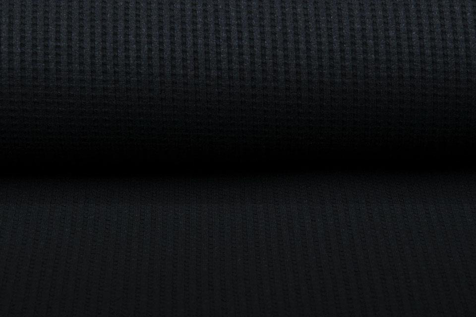 Oeko-Tex®  Baby Jersey Wafel Katoen Zwart