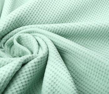 Oeko-Tex®  Baby Jersey Waffle Pique Fabric Light Old Green