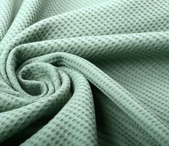 Oeko-Tex®  Baby Jersey Waffle Pique Fabric Old Green