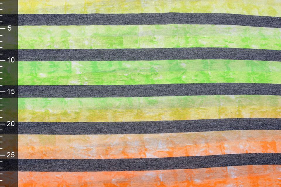 Jersey Viscose Grote Streep Multicolor 5