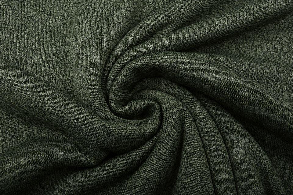 Knitted Jogging, Fur Melange Army Green