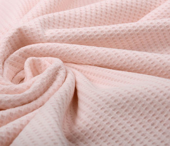 Oeko-Tex®  Baby Jersey Waffle Pique Fabric Light Pink