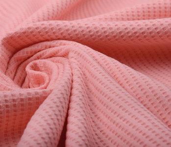 Oeko-Tex®  Baby Jersey Waffle Pique Fabric Coral