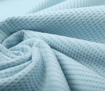 Oeko-Tex®  Baby Jersey Waffle Pique Fabric Baby Blue