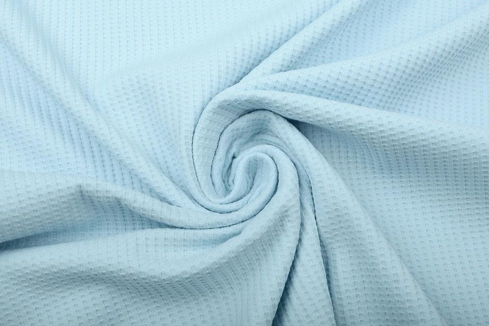 Oeko-Tex®  Baby Jersey Wafel Katoen Baby Blauw