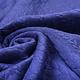 Gebreide Kabel Stof Tricot Kobalt Blauw Melange