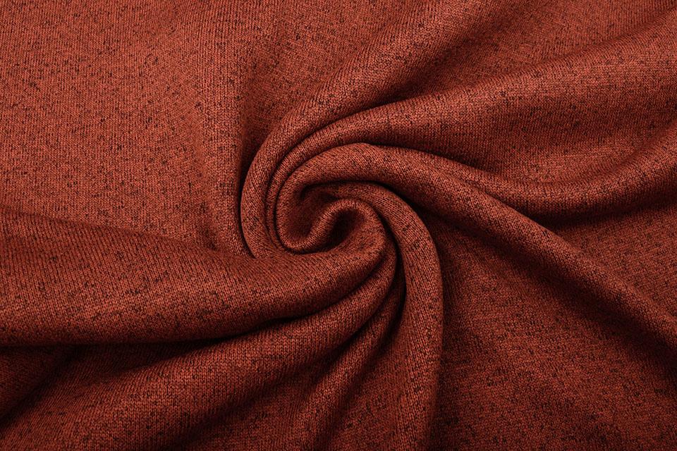 Gebreide Fleece Brique