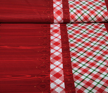 Christmas Fabric Checkered Red