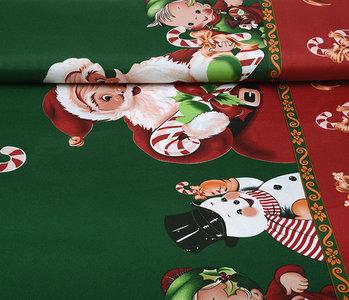 Kerststof  Kerstman Zuurstok Groen