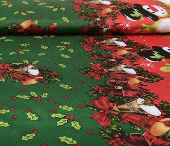 Christmas Fabric Christmas Bells Green