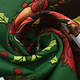 Kerststof  Kerstklokken Groen