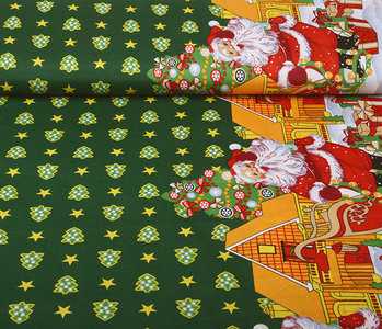 Christmas Fabric Christmas Trees Green