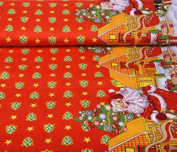 Christmas Fabric Christmas Trees Red