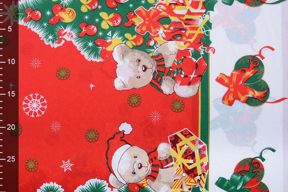 Kerststof  Kerstberen Rood