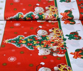 Christmas Fabric Christmas Bears Red