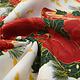 Kerststof  Kerstklok met Hulst Groen