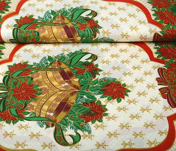 Christmas Fabric Big Christmas Bell Green