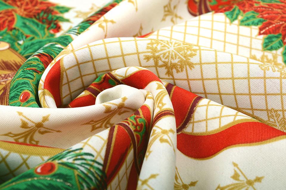Kerststof Grote  Kerstklok Groen