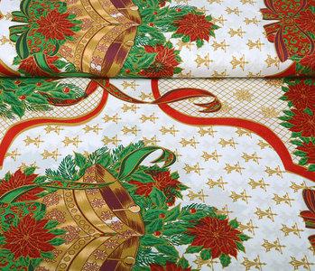 Kerststof Grote  Kerstklok Rood