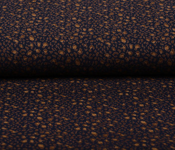 100% Viscose Little Spots Marine Blauw