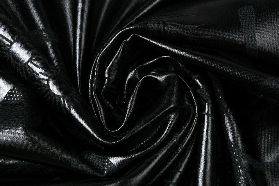 Lamé Bedrukt Zwart